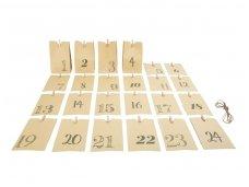 Advento kalendorius POPIERINIAI MAIŠELIAI