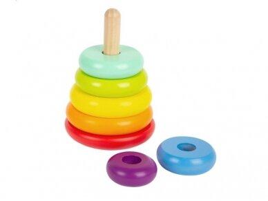 Lavinamasis žaislas SPALVINGA PIRAMIDĖ 3