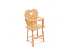 Lėlės maitinimo kėdė NATŪRALUMAS