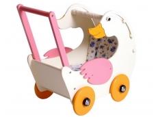 Lėlių vežimėlis - stumdukas ŽĄSIS GERDA