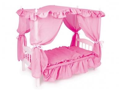 Lėlės lovytė su baldakimu