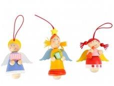 Medinių pakabinamų žaislų rinkinys ANGELAI (12 vnt) 1 vnt - 1,80 Eur