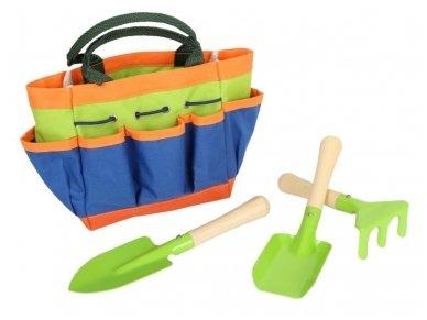 Sodo įrankiai su krepšiu