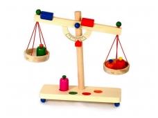 Žaislinės svarstyklės NATŪRALUMAS