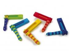 Žaislinių tarškynių rinkinys SPALVOTOS