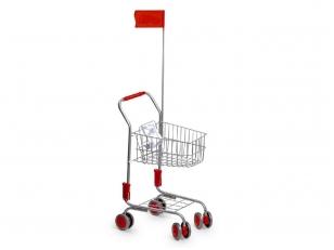 Žaislinis pirkinių vežimėlis SIDABRINIS