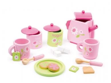 Žaislinis arbatos servizas ROŽINIS