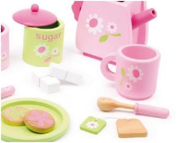 Žaislinis arbatos servizas ROŽINIS 2