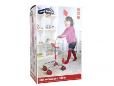 Žaislinis pirkinių vežimėlis SIDABRINIS 3