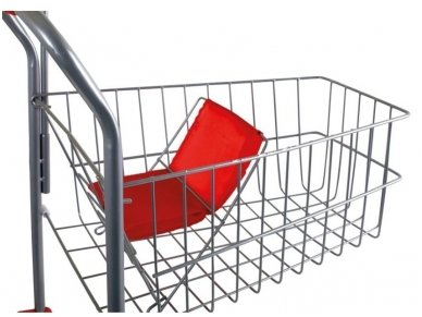 Žaislinis pirkinių vežimėlis SIDABRINIS 2